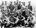 United Verde Baseball Team, 1910.  George & Tom Sherman in 2nd row (x).