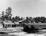 A.T. & S.F. Station with Train. Arizona--Grand Canyon--Grand Canyon Village--Depot....