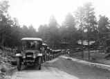 Fleet of sight seeing cars.  Arizona--Grand Canyon--Transportation [White touring cars.]...