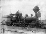 # 1 locomotive and crew. [Man at right is E.T. McGonigle, ca. 1905
