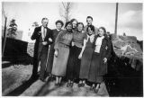 (L-R) unknown, John Verkamp, Katie, unknown (2), Janet, unknown (2), Catherine, Peggie