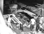 Kaibab Lumber Mill, 6/1/66. [interior view]
