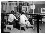 8th grade boys in Weaving. Hopi High School-Oraibi, Arizona. Fred Kabotie, Teacher. April 20, 1945.